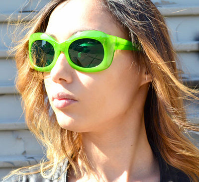 peaches green sunglasses