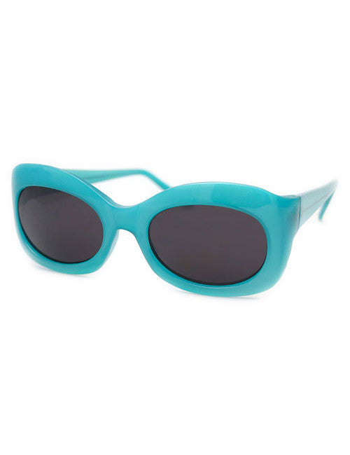 peaches teal sunglasses