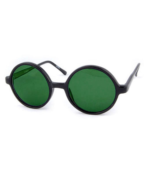 peeper black green sunglasses