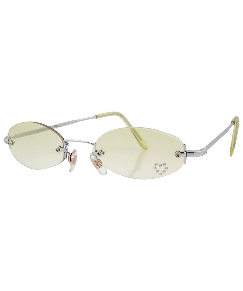 PEEP Green/Heart Rimless Micro Sunglasses
