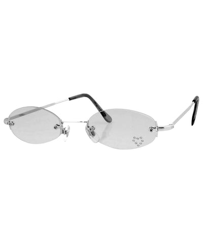 PEEP Smoke/Heart Rimless Micro Sunglasses
