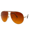 pemex gold brown sunglasses