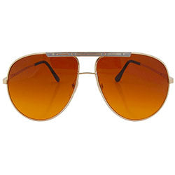 PEMEX Gold/Gray Aviator Sunglasses