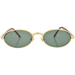 pesto gold sunglasses