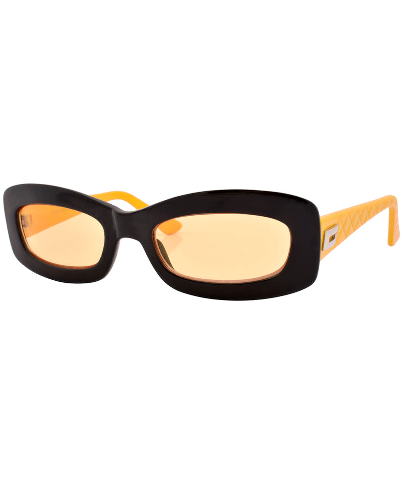 phoner black yellow sunglasses
