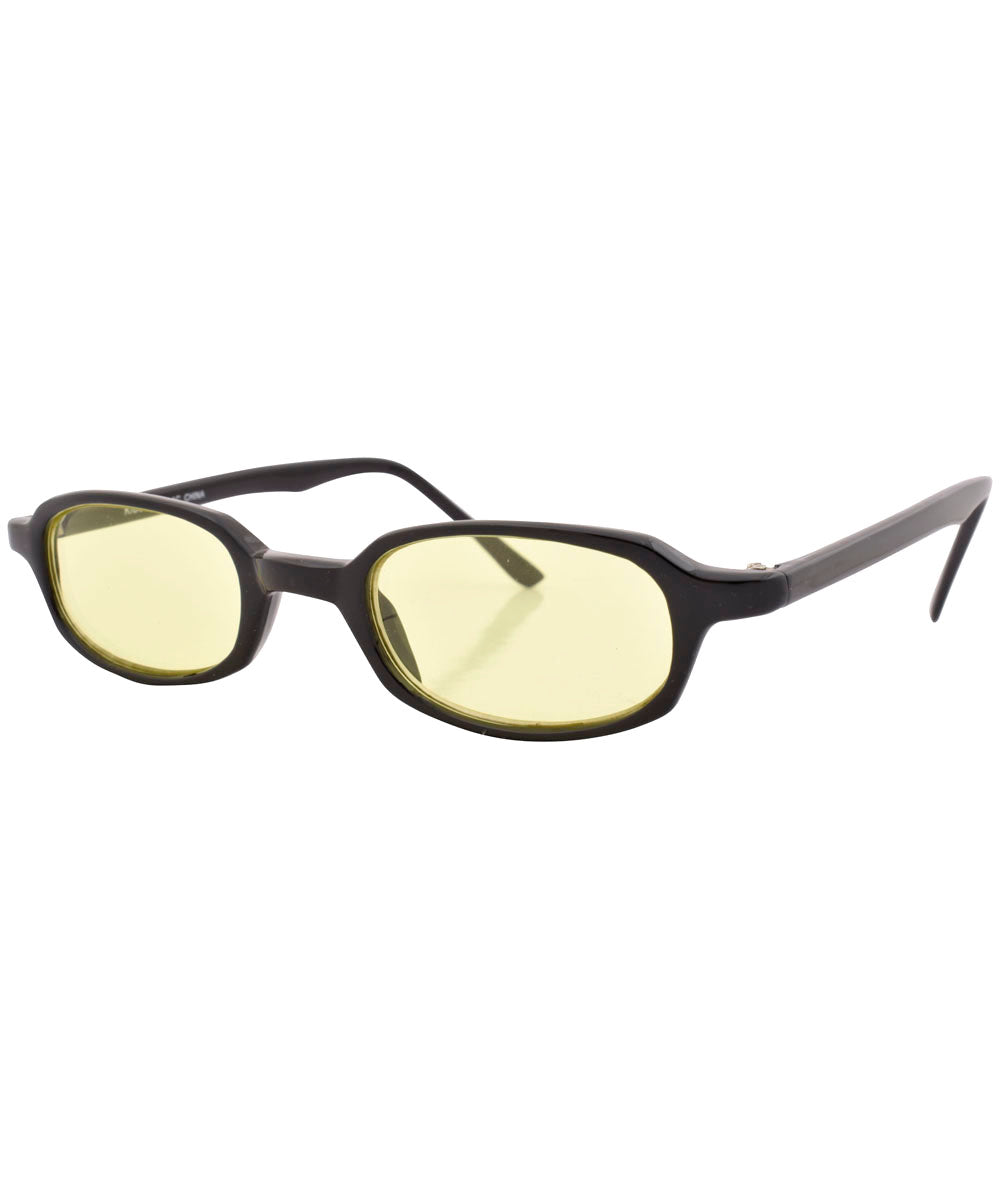 2490460701 pills black yellow sunglasses