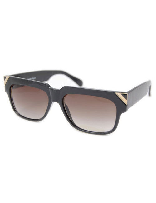 pip black gold sunglasses