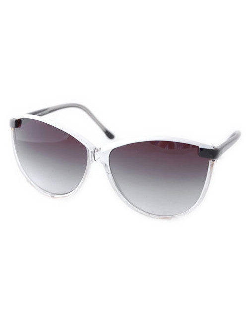 pisces crystal white black sunglasses