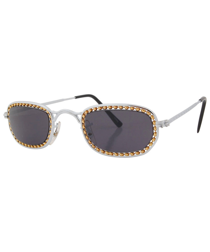 pistola silver gold sunglasses