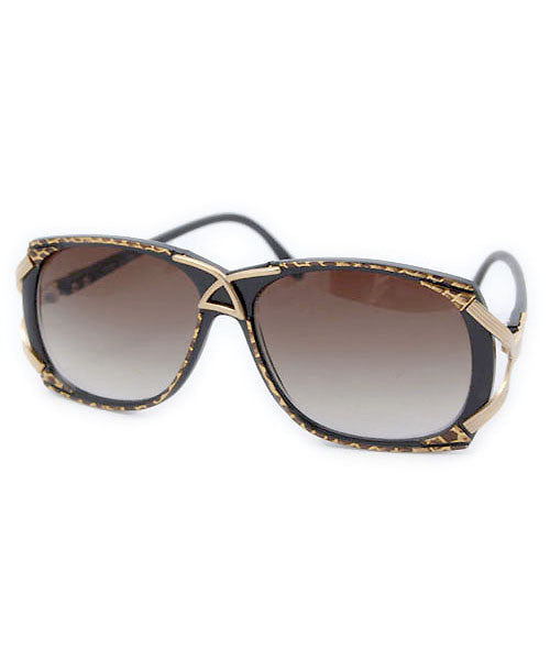 pizazz black gold sunglasses