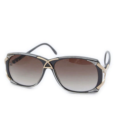 pizazz black gray sunglasses