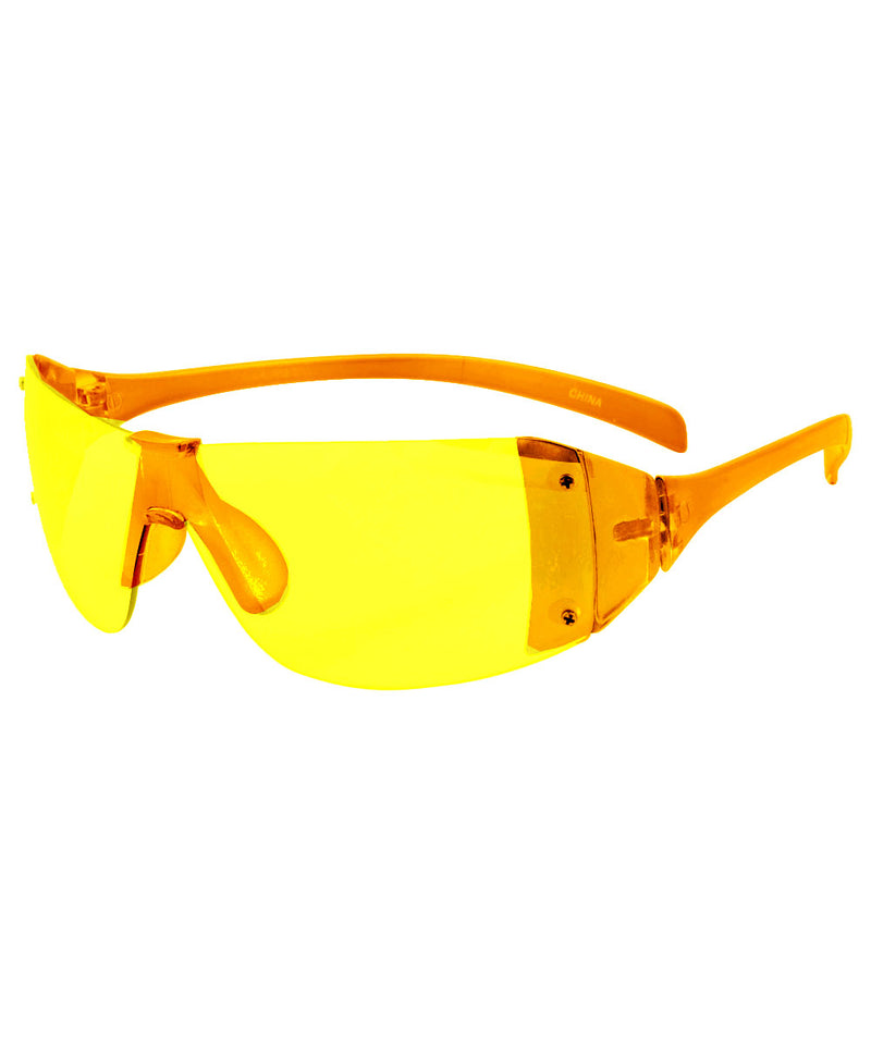 PLASTICS Yellow Rimless Sunglasses