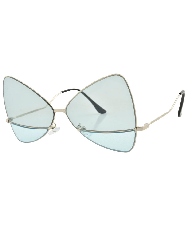 PLEASANCE Blue Oversized Sunglasses