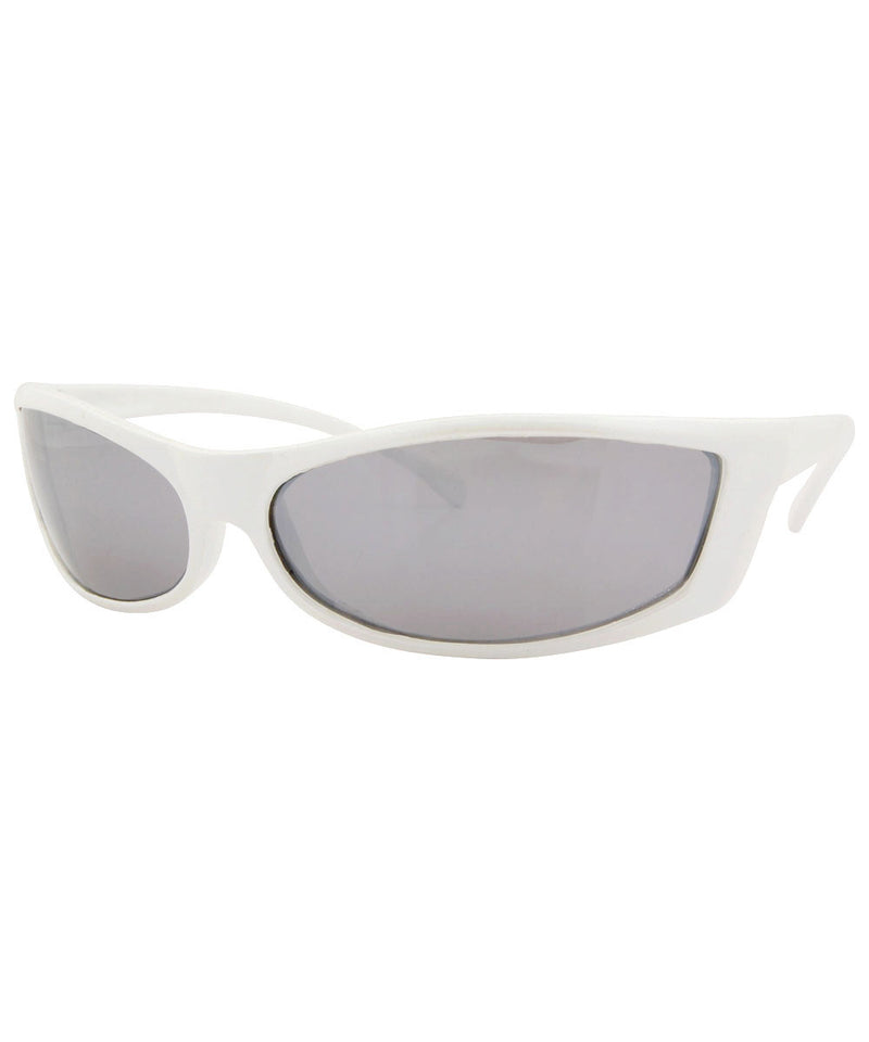 pleazer white sunglasses