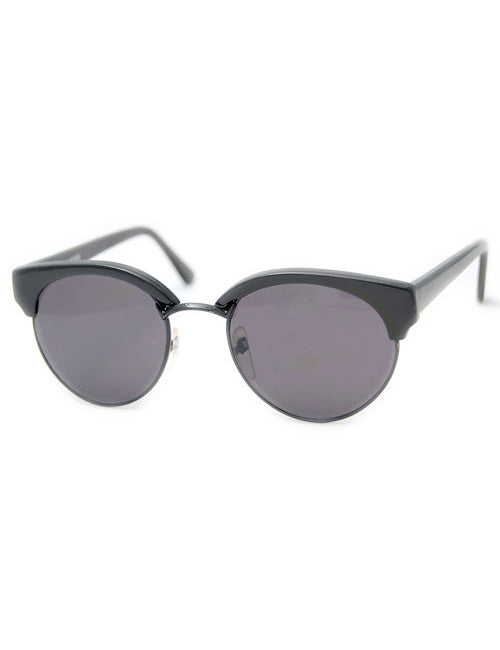 pollen black black sunglasses