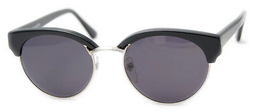 pollen black silver sunglasses