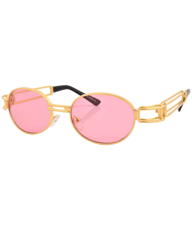 poppers gold pink sunglasses