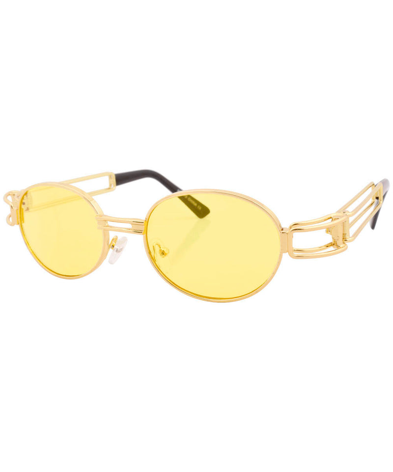 poppers gold yellow sunglasses