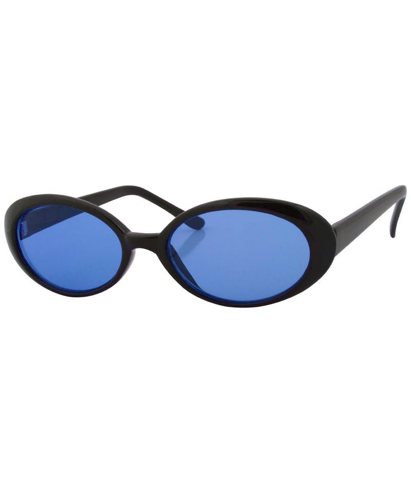 premium black blue sunglasses