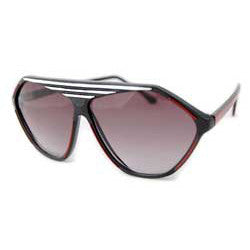 prime black wht red sunglasses