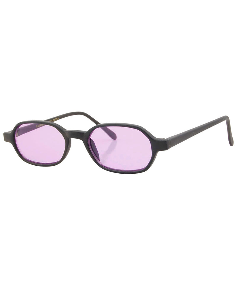 punchy black purple sunglasses