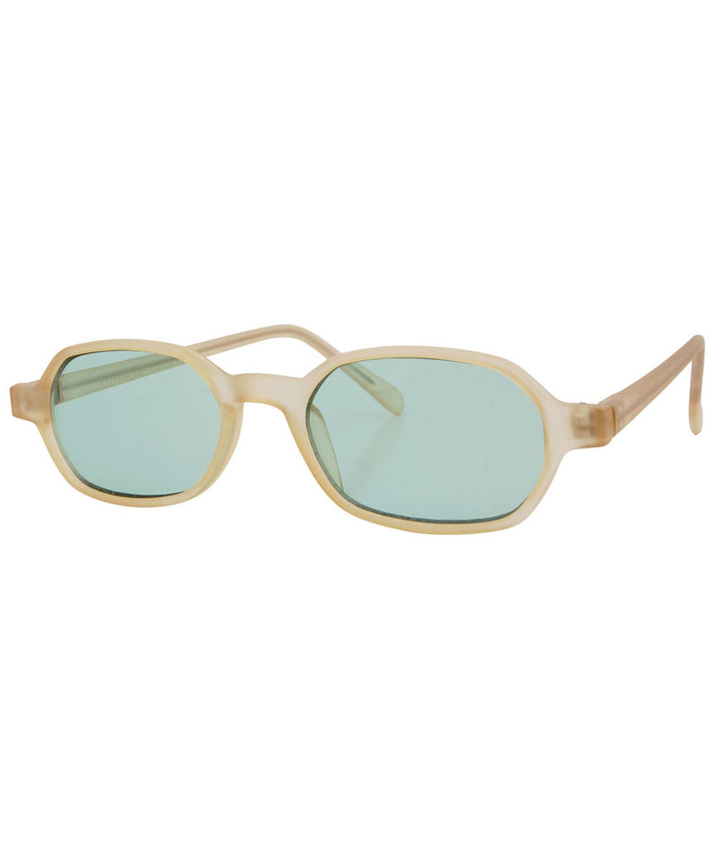 punchy champagne green sunglasses