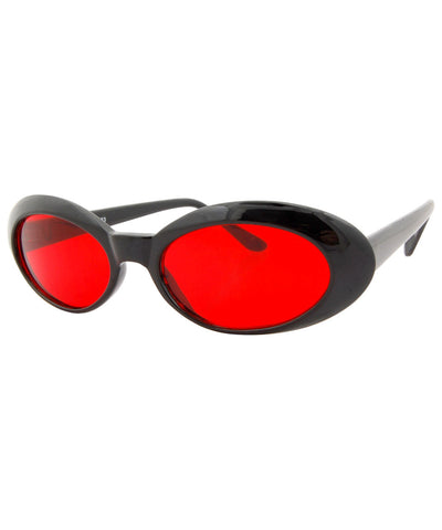 punkees black red sunglasses