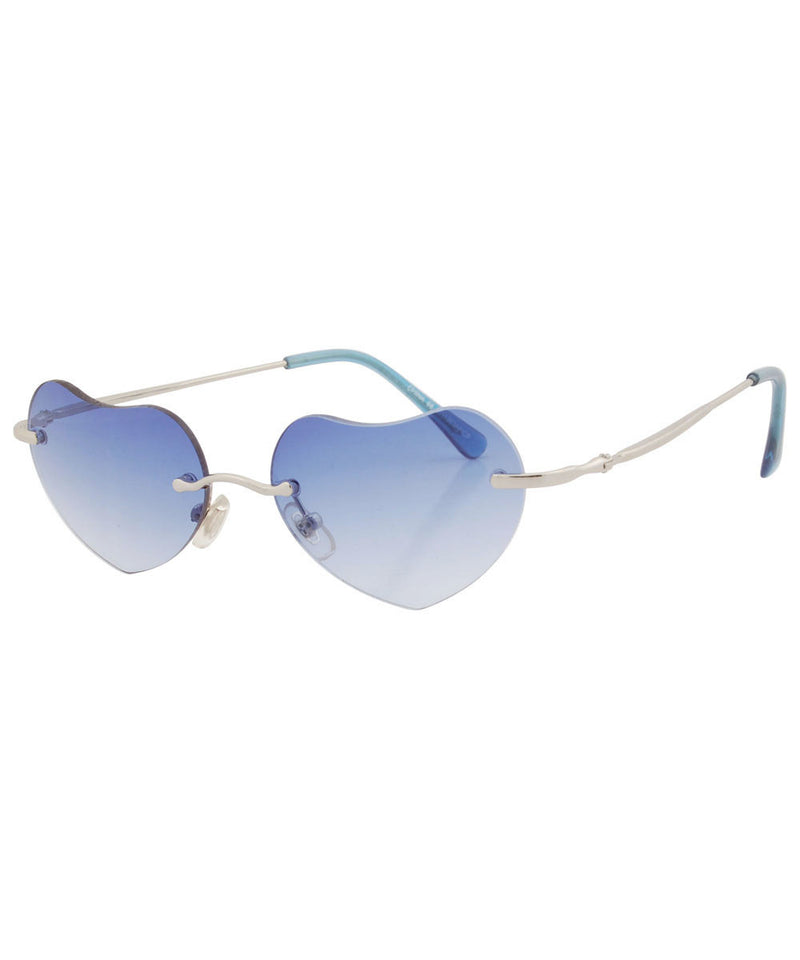 q pid blue sunglasses
