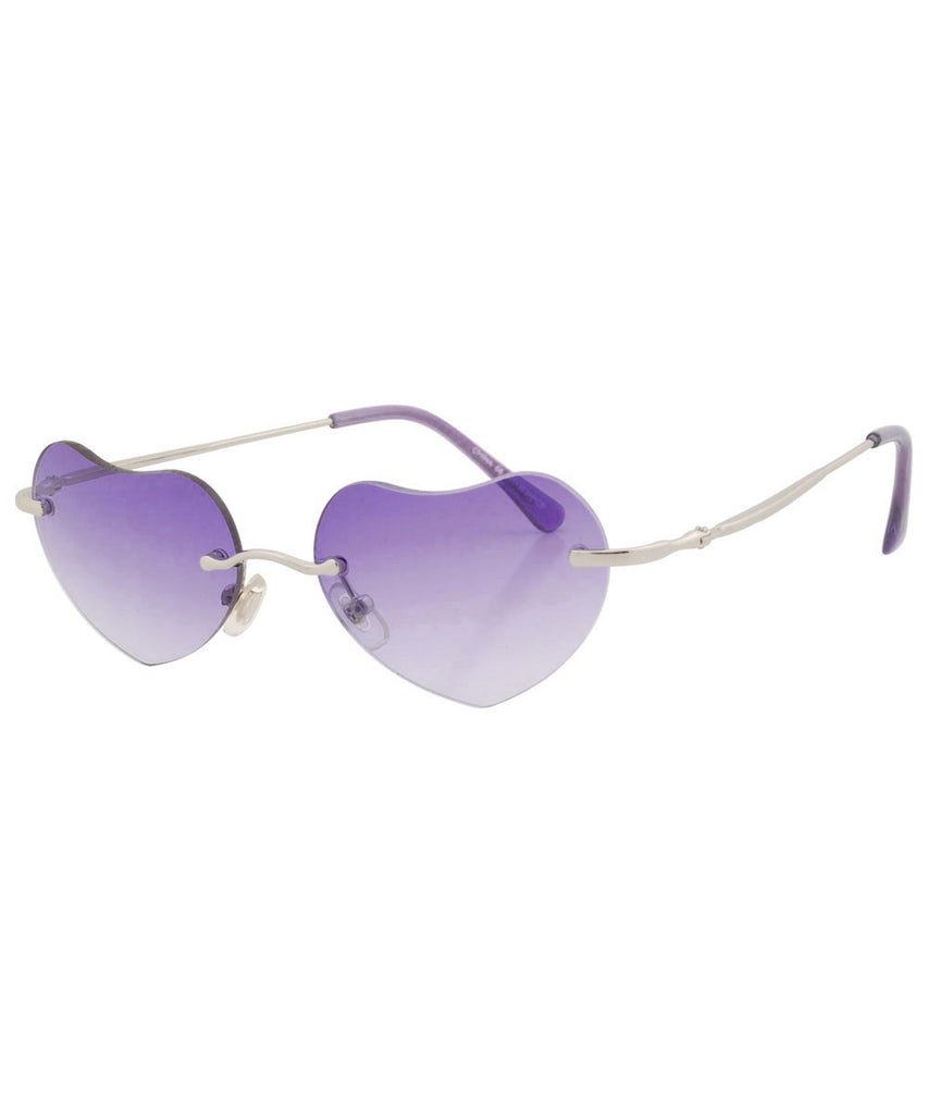 q pid purple sunglasses