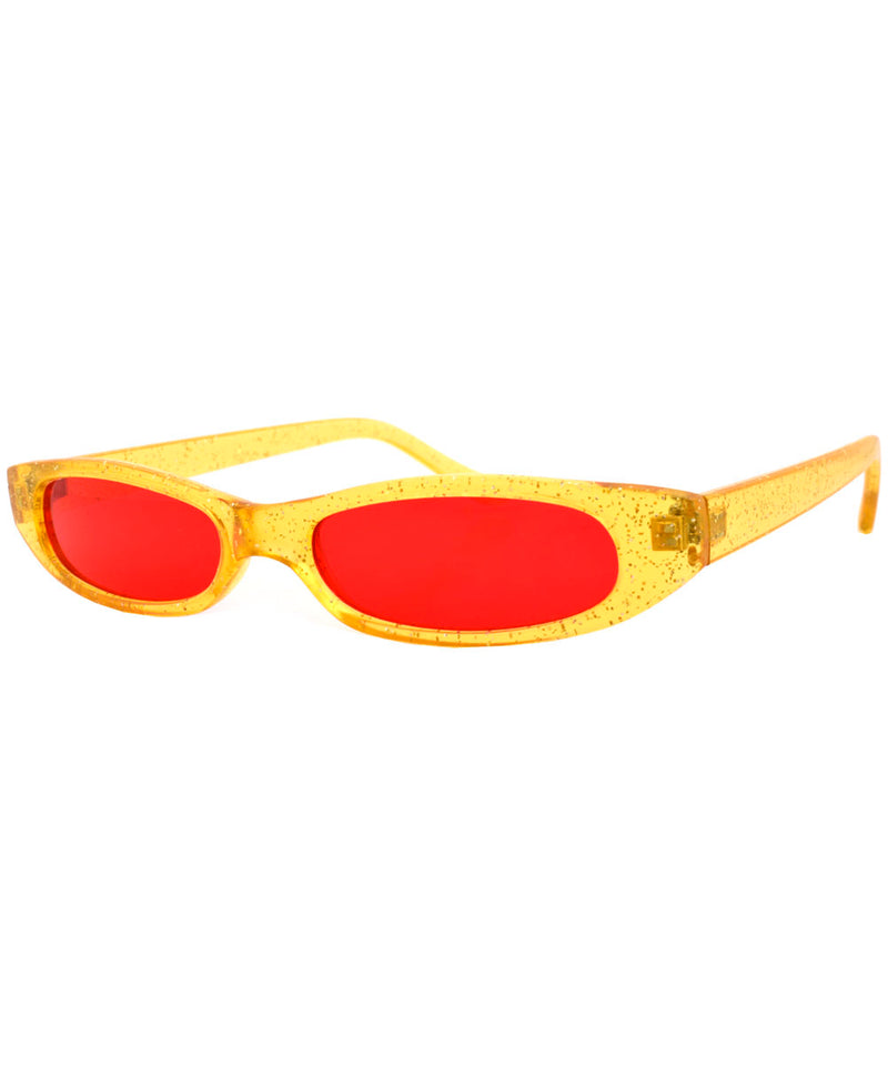 qats glitter red sunglasses