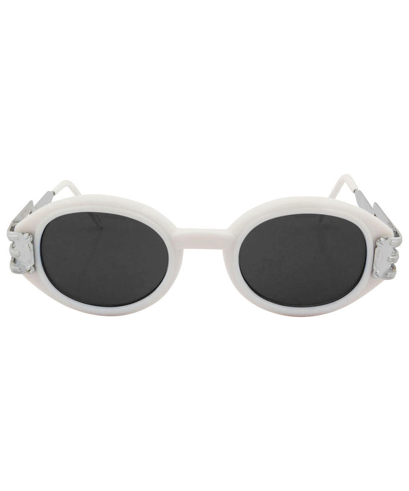 QUAGSIRE White/SD Oval Sunglasses