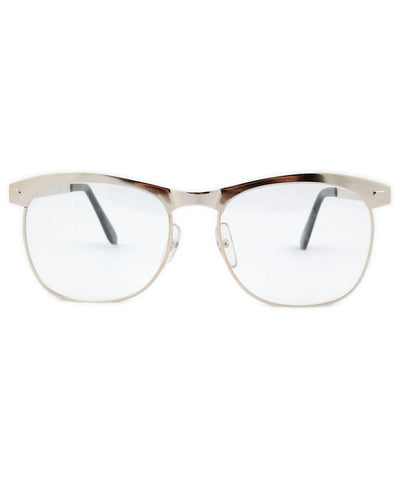 quasar silver clear sunglasses