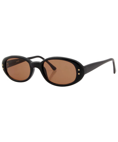 quiche black amber sunglasses