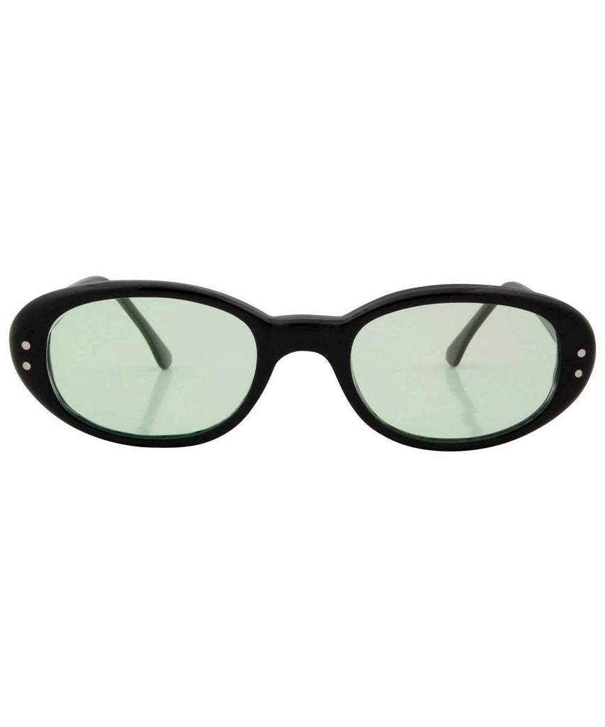quiche black green sunglasses