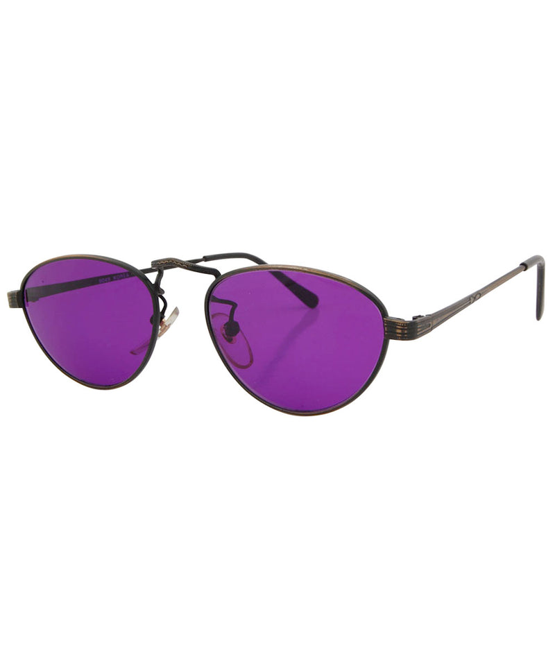 quilt brass purple sunglasses