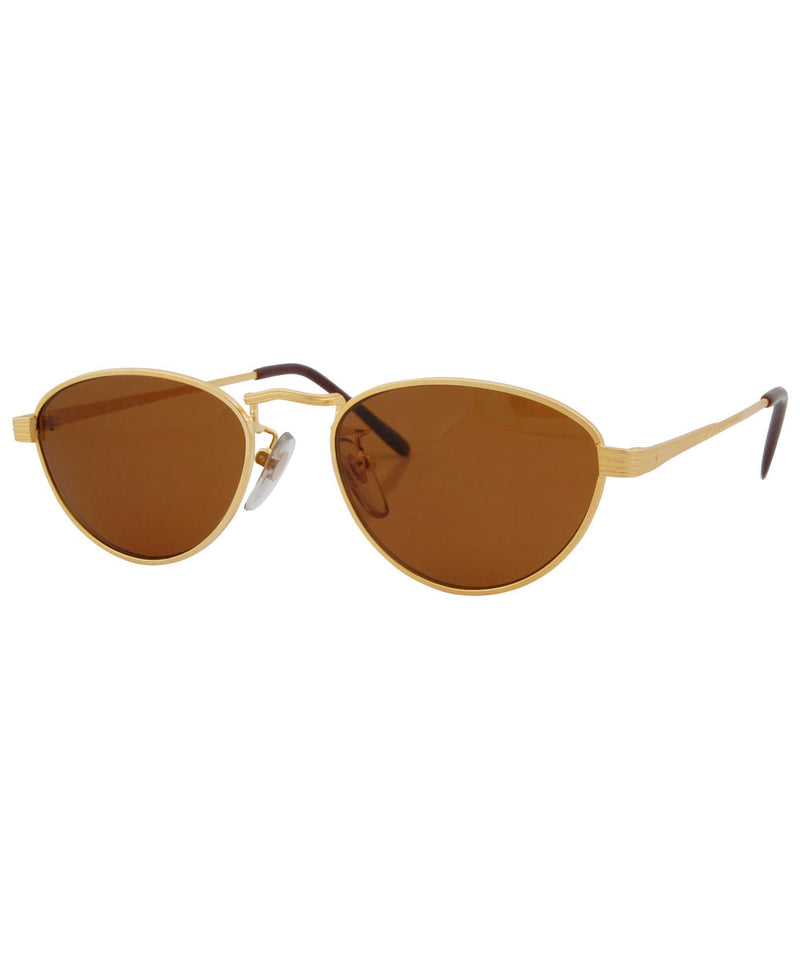 quilt gold sunglasses