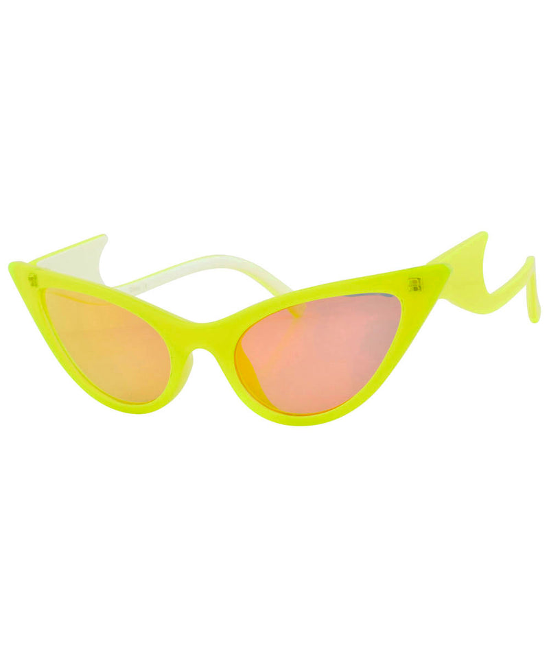 QUIZZY Yellow Cat-Eye Sunglasses