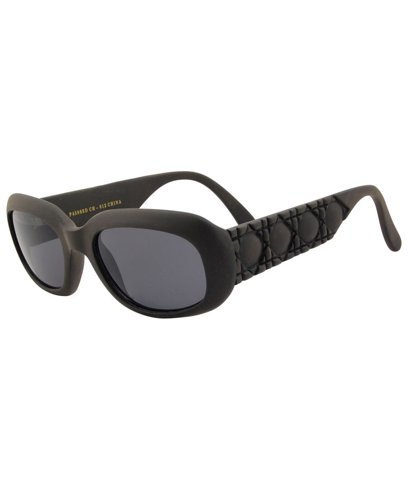 rave up matte black sunglasses