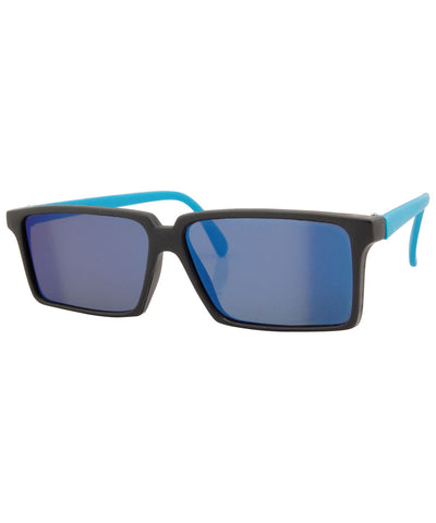 rear view blue sunglasses