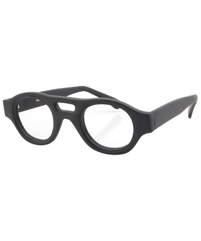 refinery black clear sunglasses