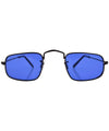 reform black blue sunglasses