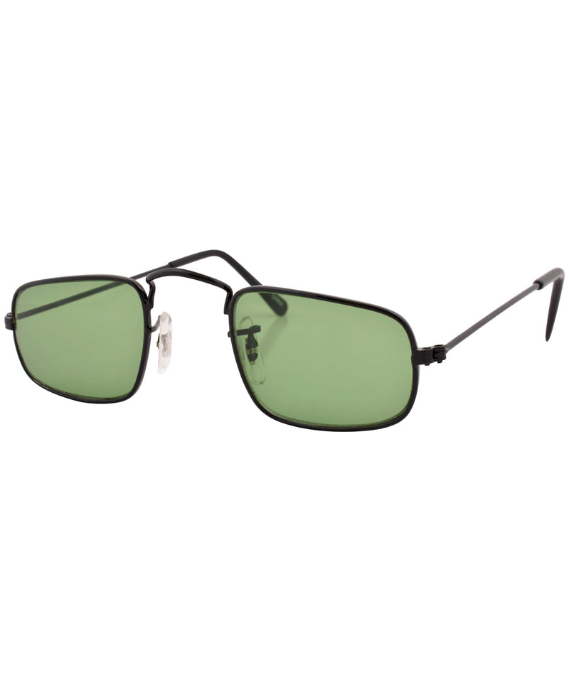 reform black green sunglasses