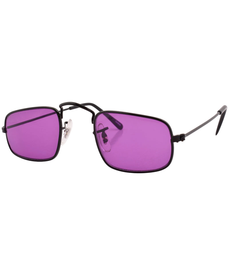 reform black purple sunglasses