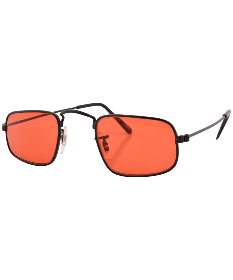 reform black red sunglasses