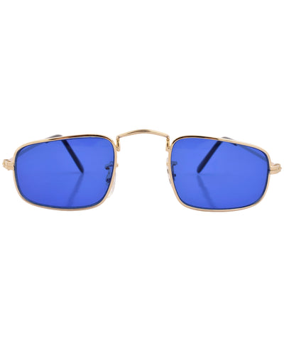 reform gold blue sunglasses