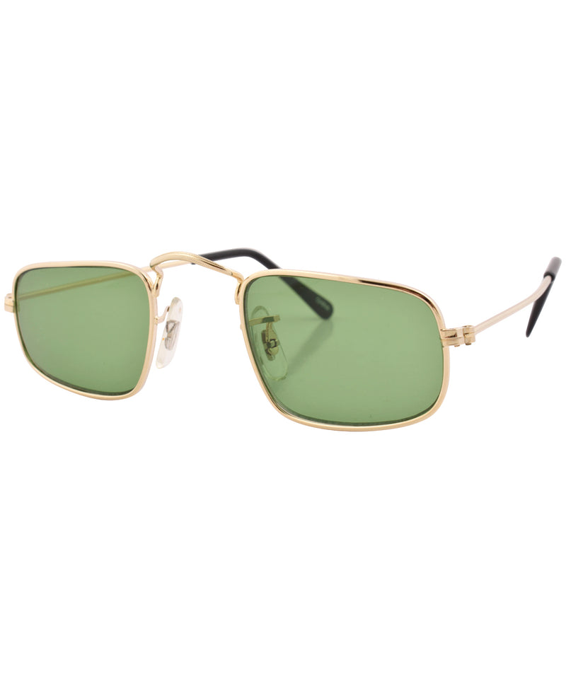 reform gold green sunglasses