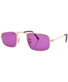 reform gold purple sunglasses