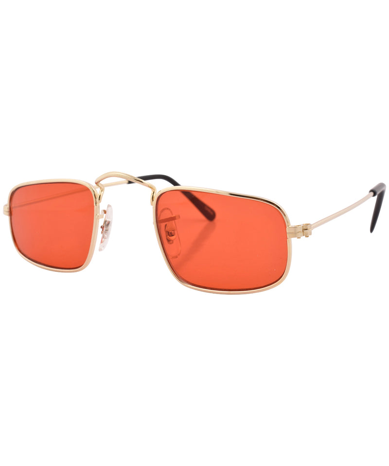 reform gold red sunglasses