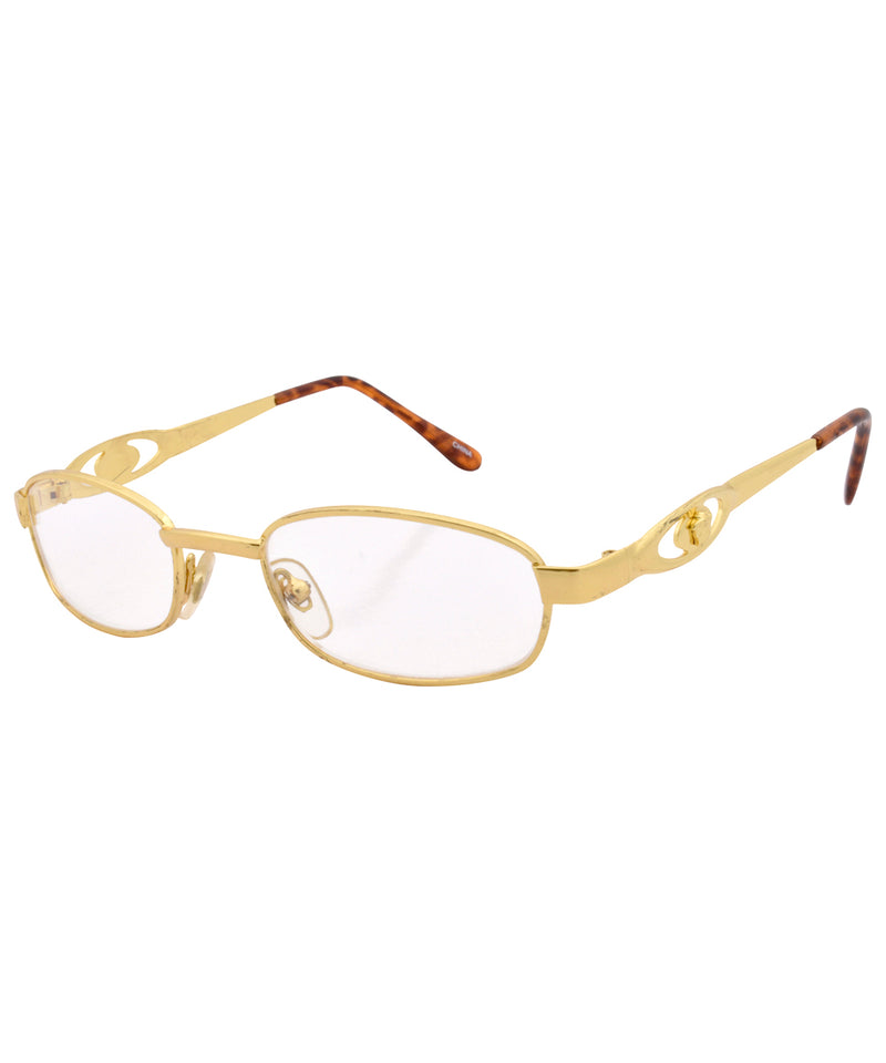 revert gold clear sunglasses