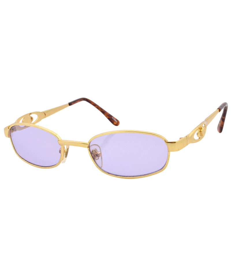 revert purple gold sunglasses